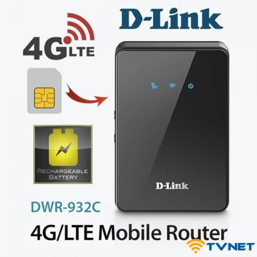 Bộ phát Wifi 4G D-Link DWR 932C tốc độ 150Mbps. Hàng chính hãng