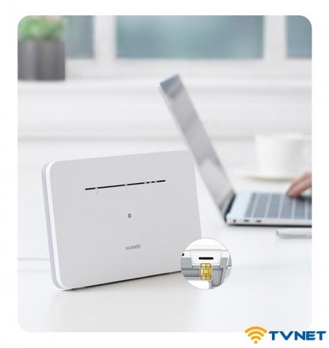 Bộ phát Wifi 4G Huawei B311B-853 thế hệ mới chuyên dụng - Hỗ trợ 32 kết nối