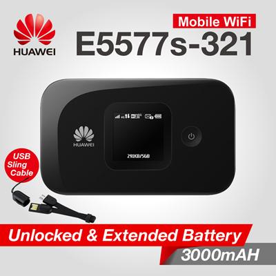 Bộ phát Wifi 4G LTE Huawei E5577 tốc độ 150Mbps - Hàng cao cấp, Pin khủng 3000mAh