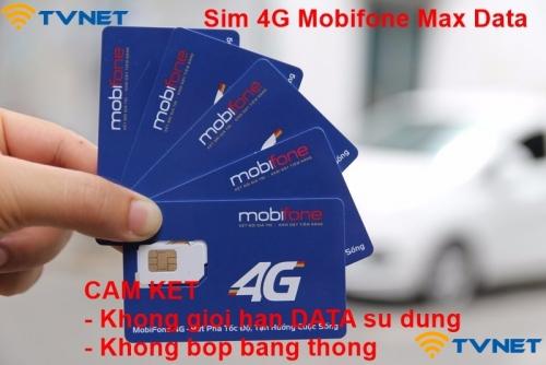 Siêu sim 4G Mobifone MAX DATA miễn phí