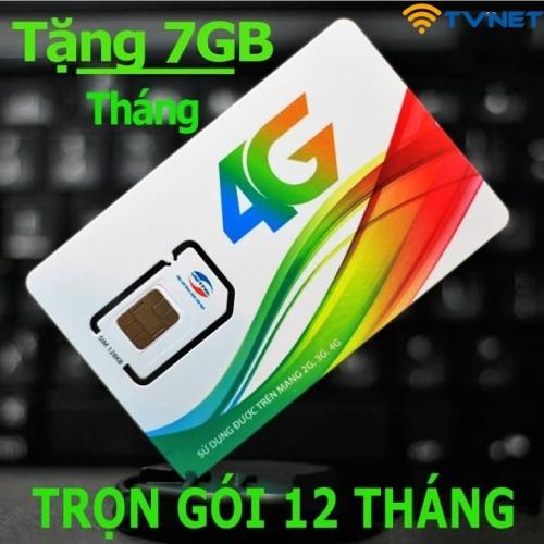 Sim 4G Viettel D900 miễn phí 12 tháng không phải nạp tiền. Mỗi tháng tặng 7Gb tốc độ cao