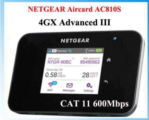 Original Unlocked 2 4 touchscreen Netgear Aircard AC810S 810S Cat11 600Mbps 4GX Advanced III 4G LTE